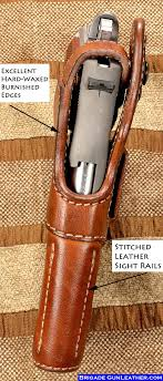 a true custom leather holster fitted to your specific pistol