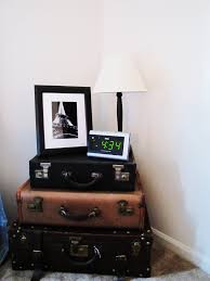 Suitcase Nightstand easy diy stacked suitcase nightstand for small bedroom spaces in 1029 by guidejewelry.us