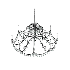 chandelier 3d dwg revit model close