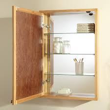Storage Cabinets Ideas Recessed Medicine Cabinet Wood Door