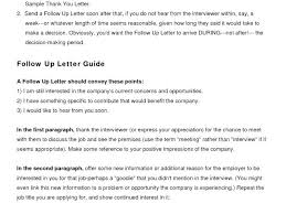 Followup Interview Follow Up Template Letter Email Job Application ...