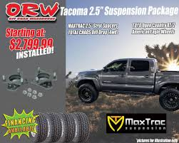 Off Road Warehouse Suspension Package 2005+ Toyota Tacoma Maxtrac ...