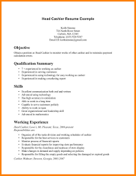 7 Sample Cashier Resumes Offecial Letter
