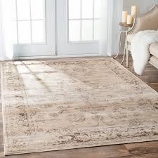 nuloom tiffany persian vintage viscose ivory area rug free regarding area rugs