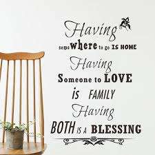 Wedding Blessing Quotes New Special Blessing Family Home Love Vinyl Wall Sticker Quotes Bedroom
