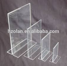 Lucite Stands For Display Tabletop Menu Display Stand Clear Lucite Desktop Stand 100100 A100 14