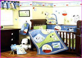 snoopy toddler bedding set baby sports crib quilt nursery peanuts