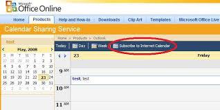 Online Office Calendar Free Online Calendar Publishing Part 1 Outlook Jon Udell