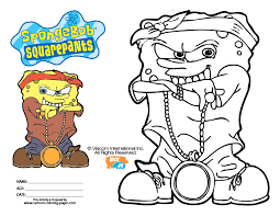 Small Picture Spongebob Gangster Coloring Pages dogss Pinterest Spongebob