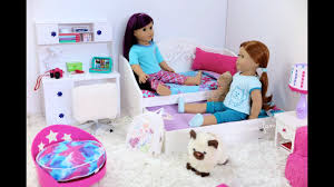 American Girl Doll Trundle Bed & Bedding Set ~ NEW! - YouTube