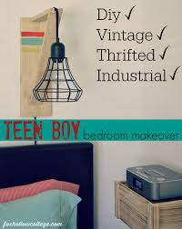 eclectic crafts room. Eclectic Teen Boy Bedroom Makeover - Diy Vintage Thrifted Rustic Industrial 1 Crafts Room