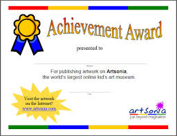 achievement awards for elementary students parents all things artsonia