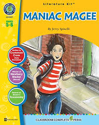 Maniac Magee By Jerry Spinelli  Chapters     Questions    ppt download This PRINT AND GO unit contains the following  a pacing guide for planning of reader response questions with answer key clue word work pages to enhance