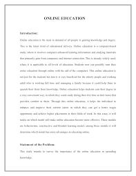 Online Education Essay Introduction Mistyhamel