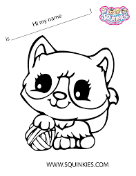 Squinkies Coloring Page