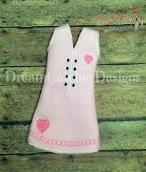"""Dream Catcher Dolls ITH Small DollElf Heart Dress Embroidery Design 100 """" Dolls 33"""