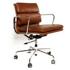 vintage style office furniture. Vintage Brown Padded Eames Style Retro Office Chair Furniture