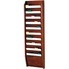 wooden mallet 10 pocket file or chart holder wall mount abc office wall mounted file holders