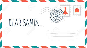Blank Christmas List Dear Santa Christmas Letter In Envelope With Stamp Holiday Child