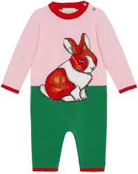 Gucci Baby Shoe Size Chart Gucci Baby Wool Sleepsuit With Rabbit Intarsia Products