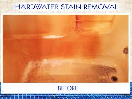 hardwater stain removal total bathtub refinishing tub reglazing service