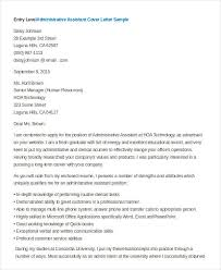 administrative istant cover letter