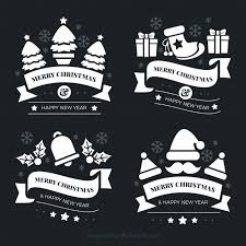 Hand Drawn Christmas Labels In Blackboard Effect Vector Free Download