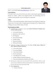Comfortable Resume Mechanical Engineer India Contemporary Entry