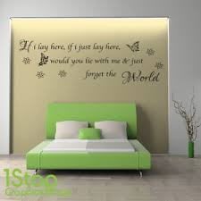 Awesome SNOW PATROL IF I LAY HERE WALL STICKER