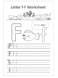 letter f worksheet preschool f is fish