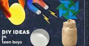 Teen boys science projects