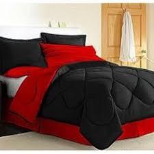 50 Best Black and Red Comforter Set images | Red comforter sets ...