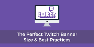 Youtube Banner Template Size The Perfect Twitch Banner Size Channel Best Practices