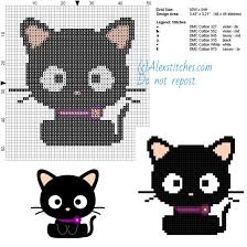 Cat Cross Stitch Patterns Impressive Sweet Cat Free Cross Stitch Pattern 48x48 48 Colors Free Cross