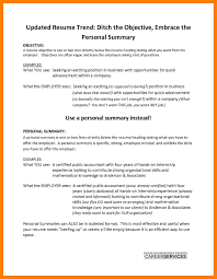 Resume Description Examples Personal Summarymple Resume Objective Or On Workexperience Job 4