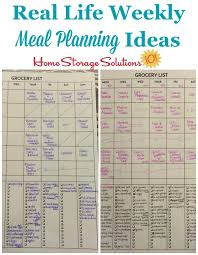 Weekly Menu Weekly Meal Planner Hall of Fame: Ways To Plan Family Meals