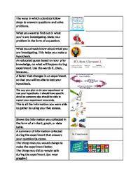 Scientific Method Flip Chart Cut Outs