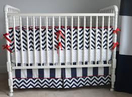 baby nursery contemporary black and white curtain idea with stylish chevron crib bedding
