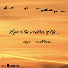 Weather Quotes Adorable Love Is The Weather Of Li Quotes Writings By Suraj R