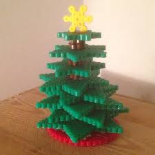 3 D Hama Bead Christmas Tree · How To Make A Christmas Tree Perler Beads Christmas Tree