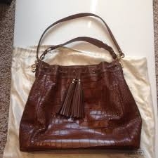Coach Madison Croc Embossed large drawstring bag