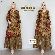 Model kain batik memiliki banyak varian yang saat ini populer dikalangan remaja, dewasa dan semua rentan usia. Gamis Batik Kombinasi Remaja Modern Model Baju Pesta Bagus 2020 Lazada Indonesia