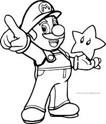 Small Picture Super Mario Coloring Page Wecoloringpage