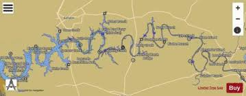 Cumberland River Charts Cumberland River Mile 221 To Mile 307 Marine Chart