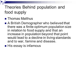 population and resources ppt video online theories behind population and food supply