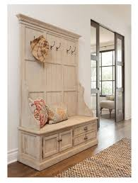 Wood Hall Tree Coat Rack Entryway Bench Hall Tree Storage Bench Coat Rack Large Pine Wood Mudroom Entry 53
