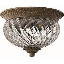 plantation traditional bronze flush low ceiling light small