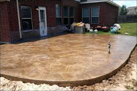 building a concrete patio rounded and raised stained concrete patio diy round concrete patio table