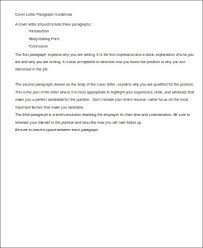 cover letter paragraph guidelines cover letter guidelines