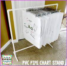Anchor Chart Easel Diy Pvc Pipe Chart Stand Smedleys Smorgasboard Of